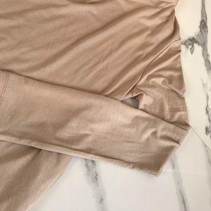 "boutique Sweaters - 🆕 ""LEISURIST"" Slinky Pocket Hoodie Nude"